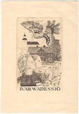 OLLE HAGDAHL: Exlibris für Ivar Wadensjö, 1945