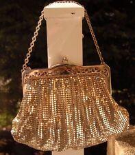 "Vintage Whiting & Davis Co Silver Mesh Bag 1930-40""s"