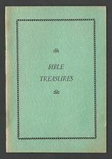 Bible Treasures 12 Pgs Over 65 Passages All Documented By Claude A Smith