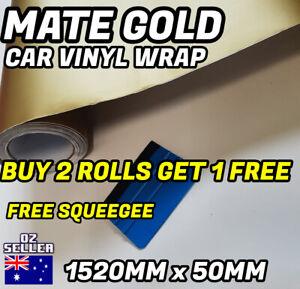 MATTE Matt GOLD Car Vinyl Wrap ROLL FILM 1520MM X 50MM AIR RELEASE DECAL