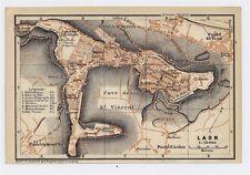 1919 ORIGINAL ANTIQUE CITY MAP OF LAON / PICARDY PICARDIE / FRANCE