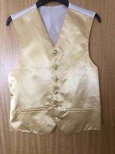 Gold Coloured Waistcoat , Size 36 , Excellent Condition