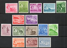 Mauritius 1953-58 QEII set of mint stamps value to 10 Rupees Mint Hinged