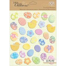Easter Eggs Egg Hunt Religious Holiday Chicks Church Family K&Company 3D Sticker