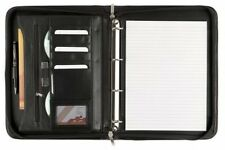 Cescahide A4 Bonded Leather Deluxe Zipped Ring Binder - Black UK POST FREE