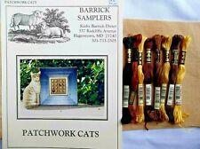 Barrick Samplers - Patchwork Cats - Cross Stitch Kit w/R&R Hd linen, Dmc floss
