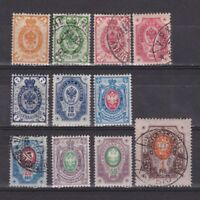 Finland 1891, Sc #46-56, CV $250, Laid paper, MH/Used