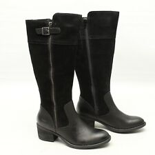 B.O.C Born Austell Womens Boots 6 M Black Suede Side Zip Calf Buckle