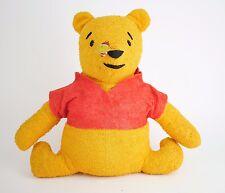 "VINTAGE 70's WINNIE THE POOH BEAR Terry Cloth Stuffed Animal Plush Bear 12.5"""