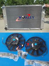 FOR 52MM FORD MUSTANG 1997-2004 98 99 00 01 02 MT V8 4.6 ALUMINUM RADIATOR&FANS