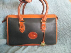 DOONEY & BOURKE VINTAGE ALL WEATHER LEATHER MEDIUM SATCHEL BAG