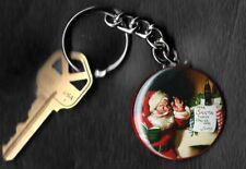 Coca-Cola Santa Reading Dear Santa Note Haddon Sundblom Keychain Key Chain