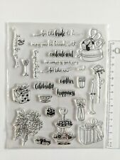 Clear large silicone stamps craft mixed media, scrapbooking card making