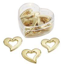 12 St. Herz Herzen Goldhochzeit Tischdeko Streuherzen Goldene Hochzeit Streudeko