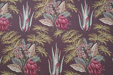 "ZOFFANY CURTAIN FABRIC DESIGN ""Desert Flower II"" 2.5 METRE ANTIQUARY 100% COTTON"