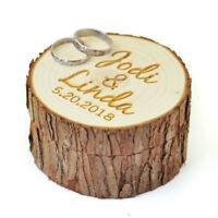 Custom Wood Ring Box Rustic Wedding Ring Bearer Box Wedding Accessory Ring Box