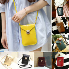 Women Buckle PU Touchable Bag Casual Crossbody Bag Mobile Phone Shoulder Bag