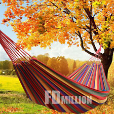 Double Cotton Fabric Hammock Air Swing Chair Hanging Camping Outdoor 300*150CM