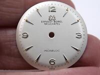 Ernest Borel Neuchatel Incabloc Vintage Watch Dial Pearl Mens 26.5mm New Old Stk