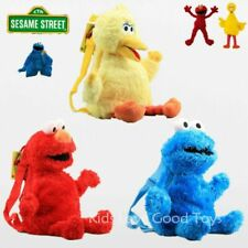 3X Sesame Street Elmo Cookie Monster Big Bird Plush Backpack Toy 18'' Kids Bag