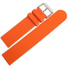 20mm Bonetto Cinturini Model 270 Mens Orange Smooth Rubber Dive Watch Band Strap