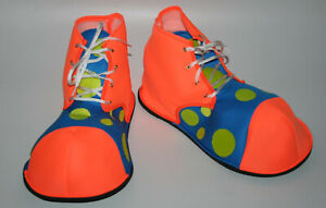 Big Foam Clown Shoes stage polka dot oversized circus theme fancy costume adult