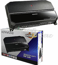 Kenwood KAC-6407 4/3 Channel Power Amplifier with 550W Max Power in Black NEW
