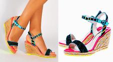 Sophia Webster Lucita Multicolored Espadrille Platform Wedge  sz US 7.5 / EU 8