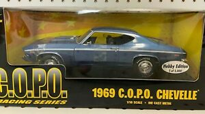 ERTL American Muscle 1969 COPO Chevelle Metallic Blue 1:18 36677 Limited Diecast