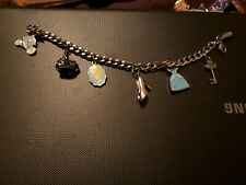 Disney Store CINDERELLA Charm Bracelet 6 Charms, preowned