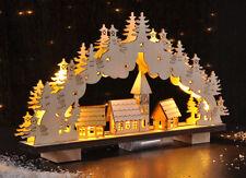 Schwibbogen aus Holz LED 33 x 19 x 5 cm Lichterbogen Schwippbogen