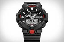 *NEW* CASIO MENS G SHOCK  BLACK RED 3D DIAL WATCH OVERSIZE XL GA-700-1a  RRP£149
