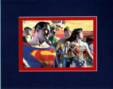 JUSTICE LEAGUE: IN THE LIGHT OF JUSTICE PRINT PROFESSIONALLY MATTED Alex Ross