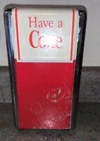 """Vintage Coca-Cola 1992 Metal Napkin Holder Dispenser Have A Coke 7 1/2"""" Tall"""