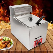 10L Commercial Gas Deep Fryer Countertop Stainless Fryer Pot Propane Heating