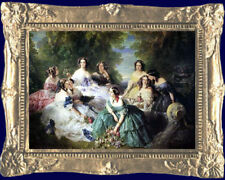 EMPRESS EUGENIE & LADIES IN WAITING  Miniature Dollhouse Picture - MADE IN USA.