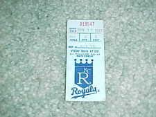 1987 Kansas City Royals v A's Baseball Ticket George Brett 3 Hits HR Bo Jackson