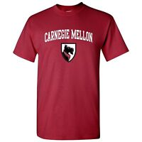 Carnegie Mellon University Tartans Arch Logo Licensed Unisex T-Shirt - Cardinal