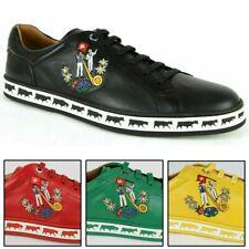 Bally Hombre Cuero Napa Color Cordero anistern colección de animales bajo-top Zapatillas Zapatos