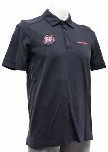 Rapha Education First Logo Polo Shirt S/S Men MEDIUM Black Cannondale Cycling