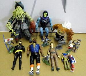 Action Figures Bundle X11: Skeletor/Batman/Mr.T/DaveyJones (Britains Knights).