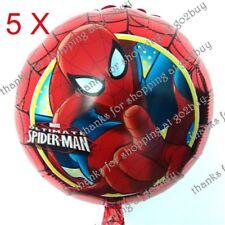 5 X Cartoon Foil Balloon Spider-man B Birthday Party Decoration Round 45CM
