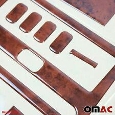 Wooden Look Dashboard Console Trim Kit 24Pcs for Dodge Mercedes Sprinter 2007-18