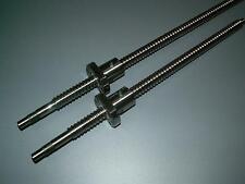 2 anti backlash 16mm ballscrew RM1605-700/1050mm-C7+ball nut+end machine CNC