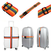 Backpack Bag Luggage Suitcase Straps Baggage Rainbow Belt Adjustable Hot