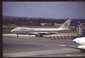 Orig 35mm airline slide Cameroon Airlines 747-200 TJ-CAB