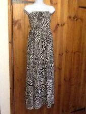 Viscose Animal Print Maxi Dresses TU