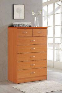 Hodedah 7 Drawer Dresser With Two Locks, Cherry