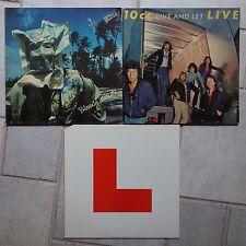 10cc –3 x → Live and Let Live 2-lp & → Bloody tourists LP & → Godley crema L LP