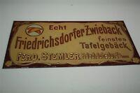 Friedrichsdorfer Zwieback - Rari Vecchio Art Nouveau Targa di Latta - 1910 -